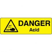 Markers safety sign - Acid 001